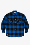 Azure Plaid Long Sleeve Flannel