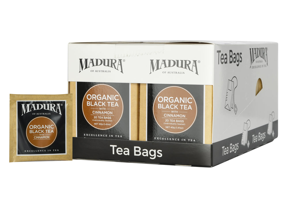 Organic Black Tea with Cinnamon 20 Teabags (6-Pack)