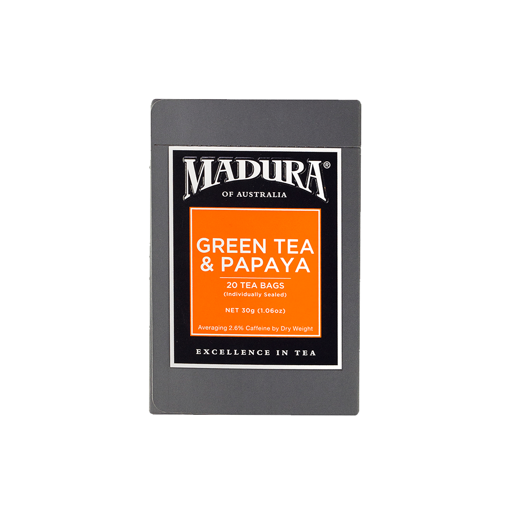 Green Tea and Papaya 20 Teabags (6-Pack)