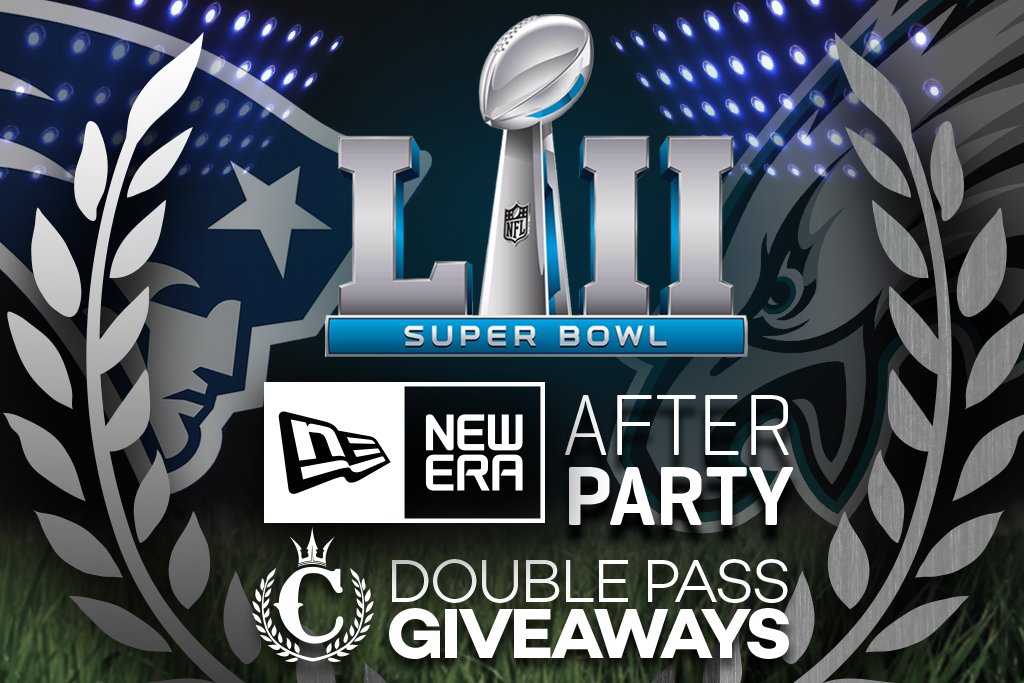 WIN!!! Double Pass To The Famous New Era Super Bowl Party