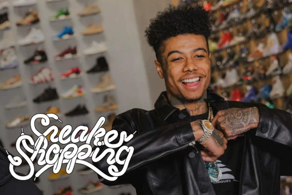 Check Out Blueface Going Sneaker Shopping