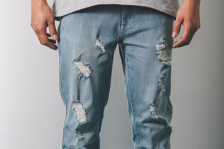 Carre Courant Jeans Blue Distressed