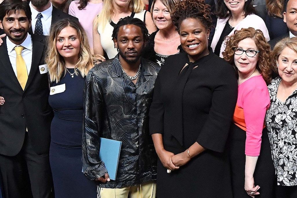 Kendrick Lamar Accepts His Pulitzer Prize