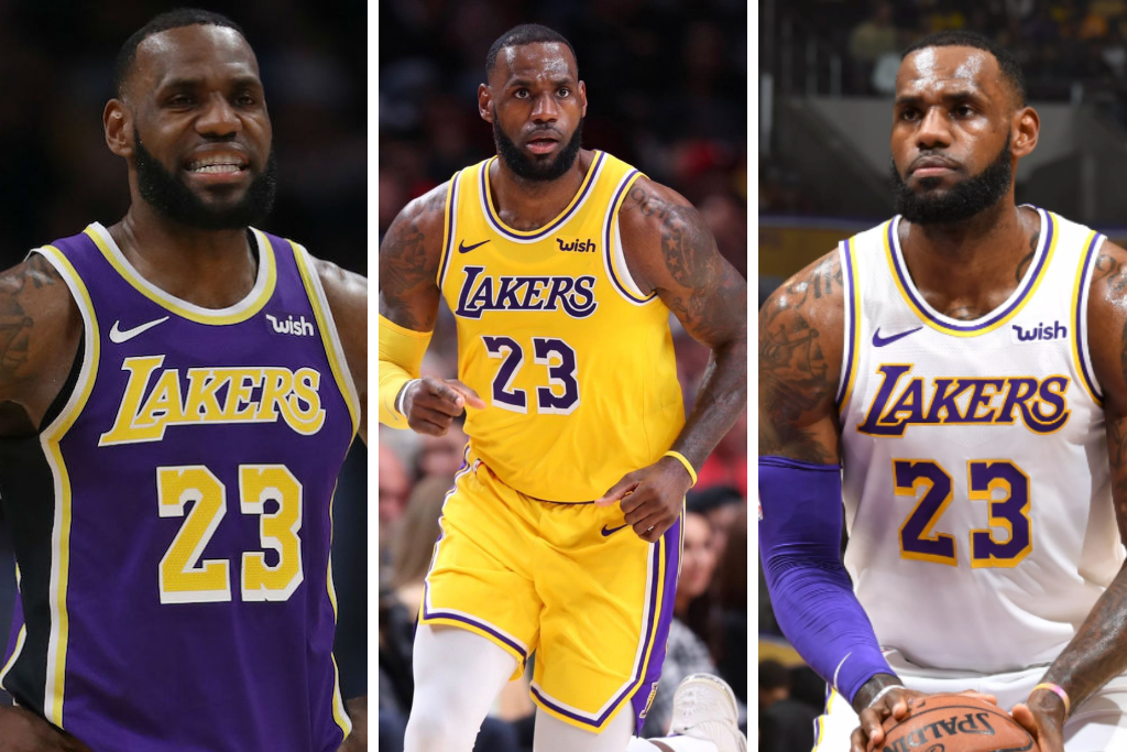 COP ALL THREE LEBRON LAKERS JERSEYS 🏀