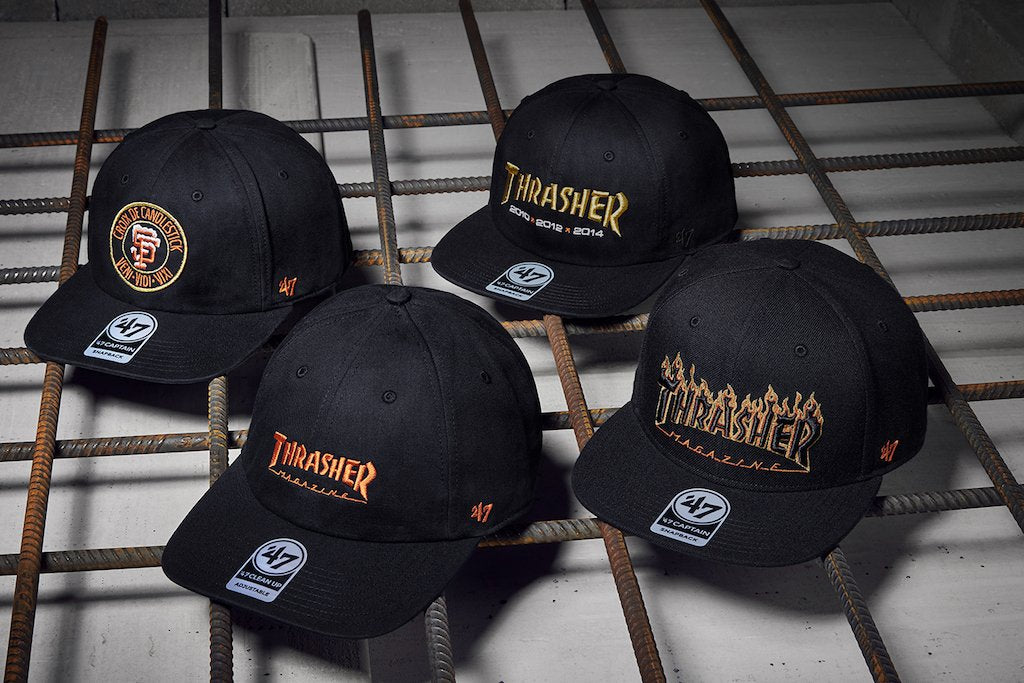 THRASHER X 47' BRAND X MLB COLLAB IS HERE