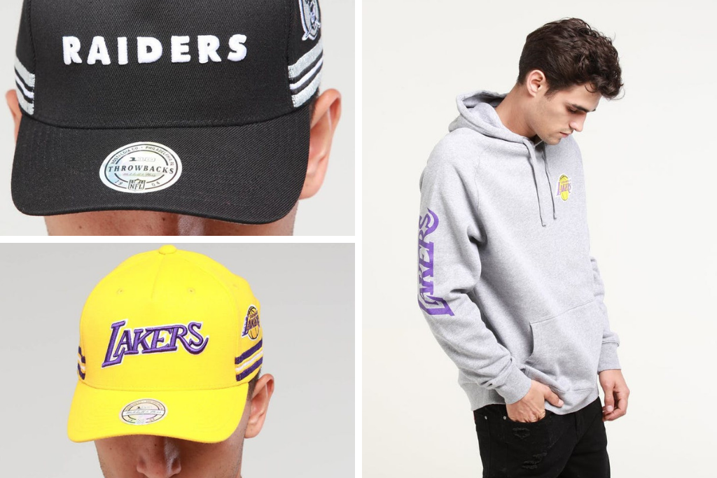 Get On The Just Dropped Mitchell & Ness Wordmark Capsule
