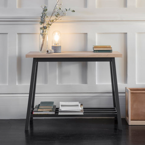Console Table in Carbon - Oak & Beech