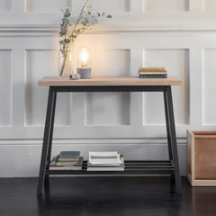 Console Table in Carbon - Oak & Beech - Pre-order
