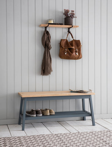 Hallway Bench in Charcoal - Oak & Beech