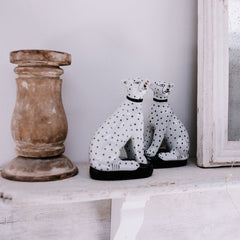Sitting Leopards - Pair