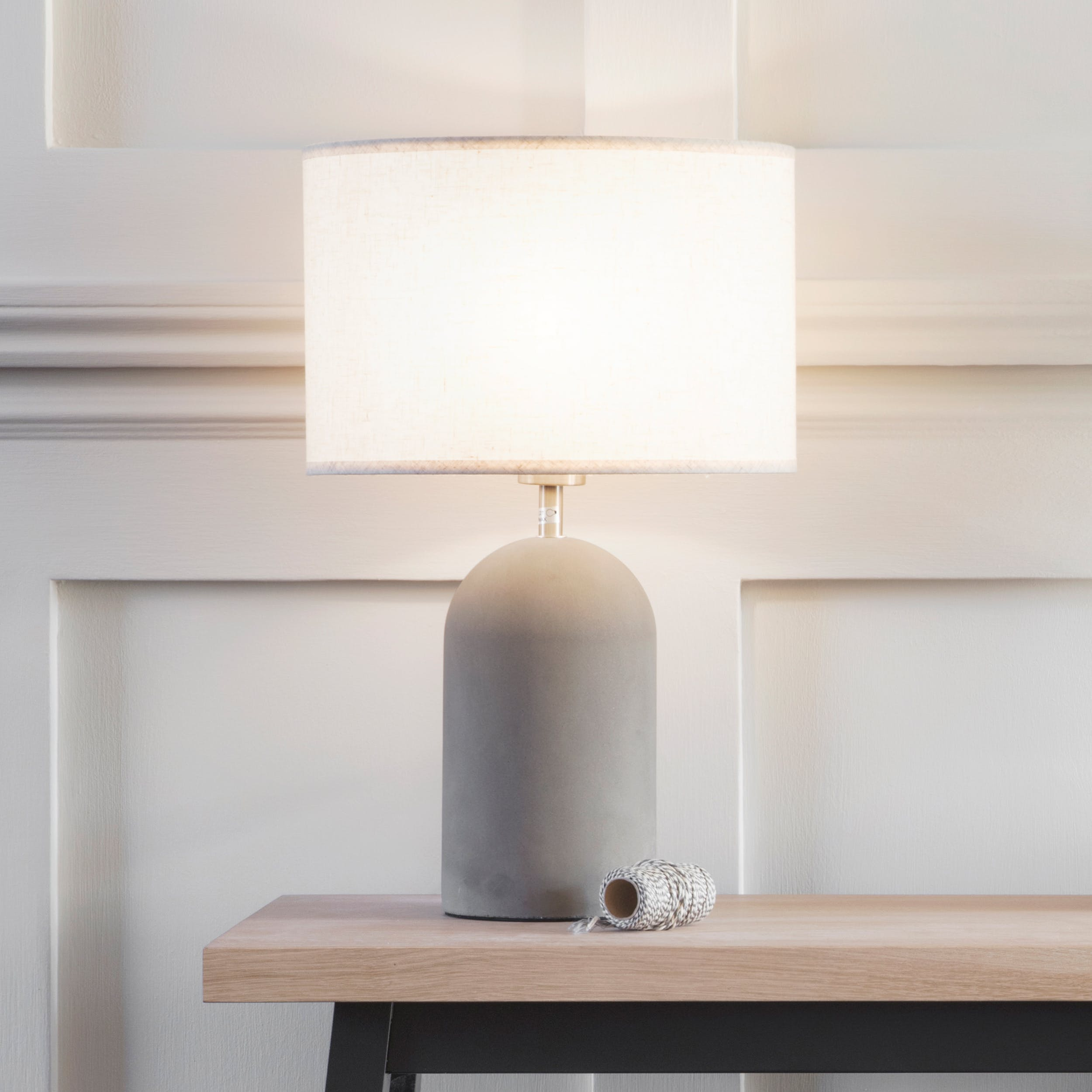 Concrete Bullet Table Lamp