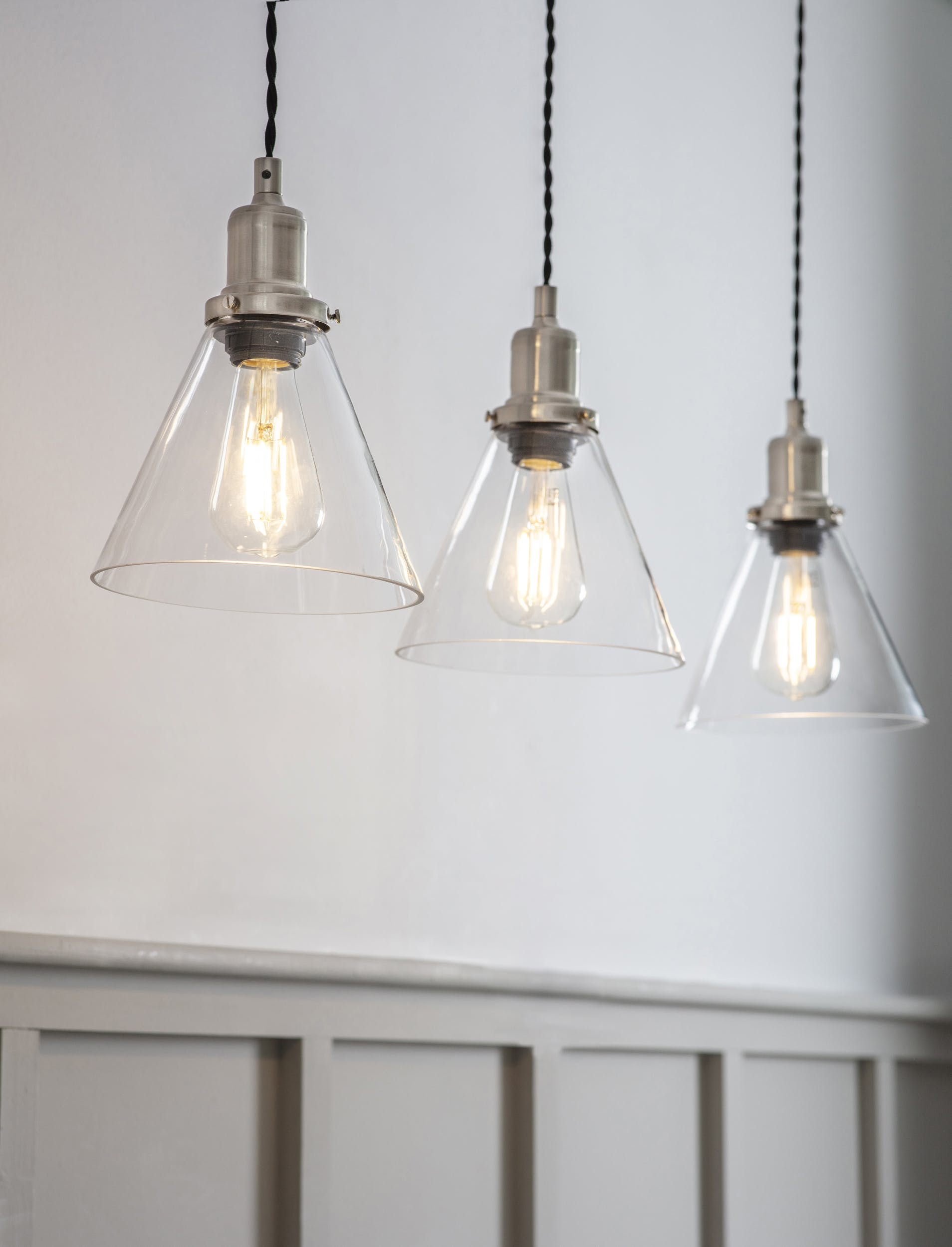 Trio Cone Pendant Light - Multiple colours available