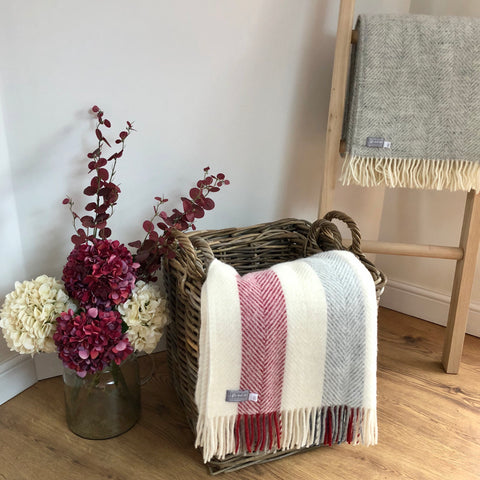 Berry Stripe Throw