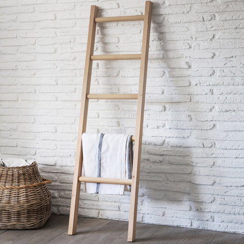 Raw Oak Standing Ladder