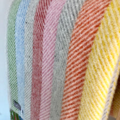 Rainbow Stripe Throw