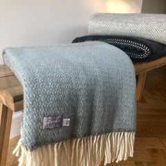 Panelled Two-Tone Throw