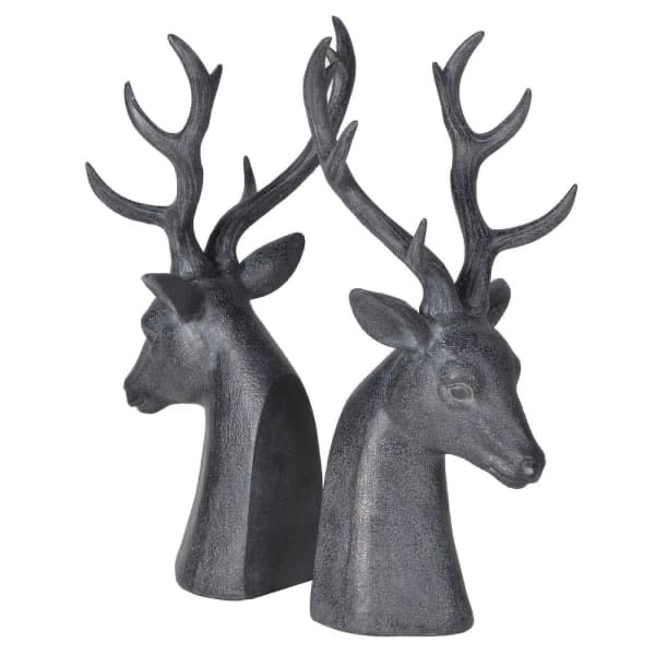 Deer Head Book Ends