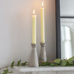 Cement Candle Holders - Set of 2