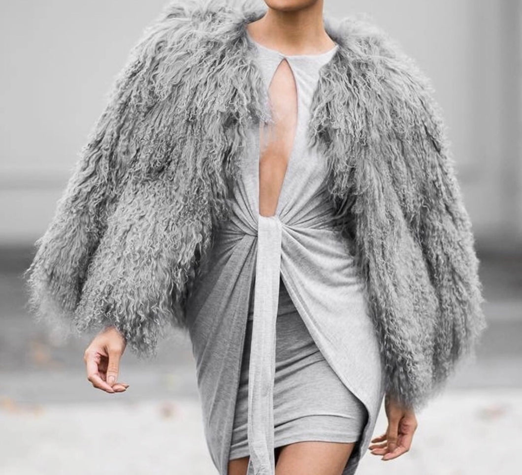 Grey mommy coat