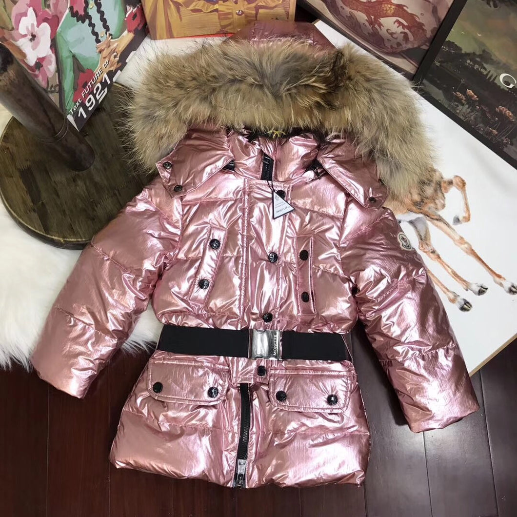 Metallic Pink Fur Coat