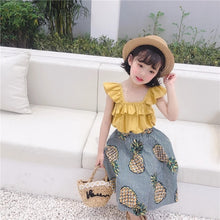 Pineapple skirt set