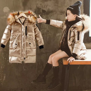Metallic fur coat Kids