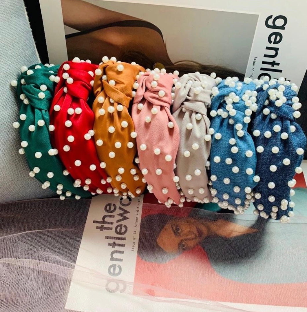 Pearls headbands set