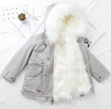 Grey fur Winter Coat