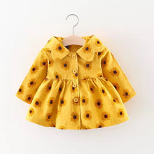 Sunflowers coat baby