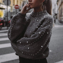 Pearls grey sweater