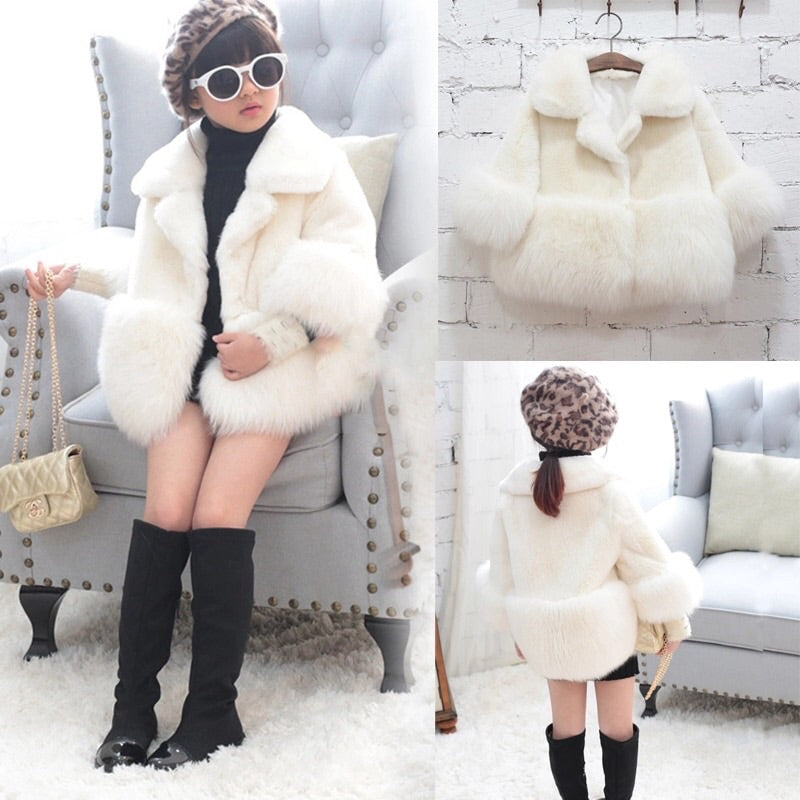 Amanda fur white coat