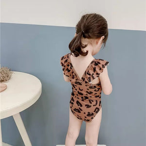 Kids Safari/ animal print  swimsuit