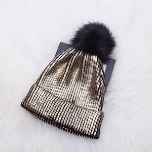 Metallic big kids & Adult  beanie