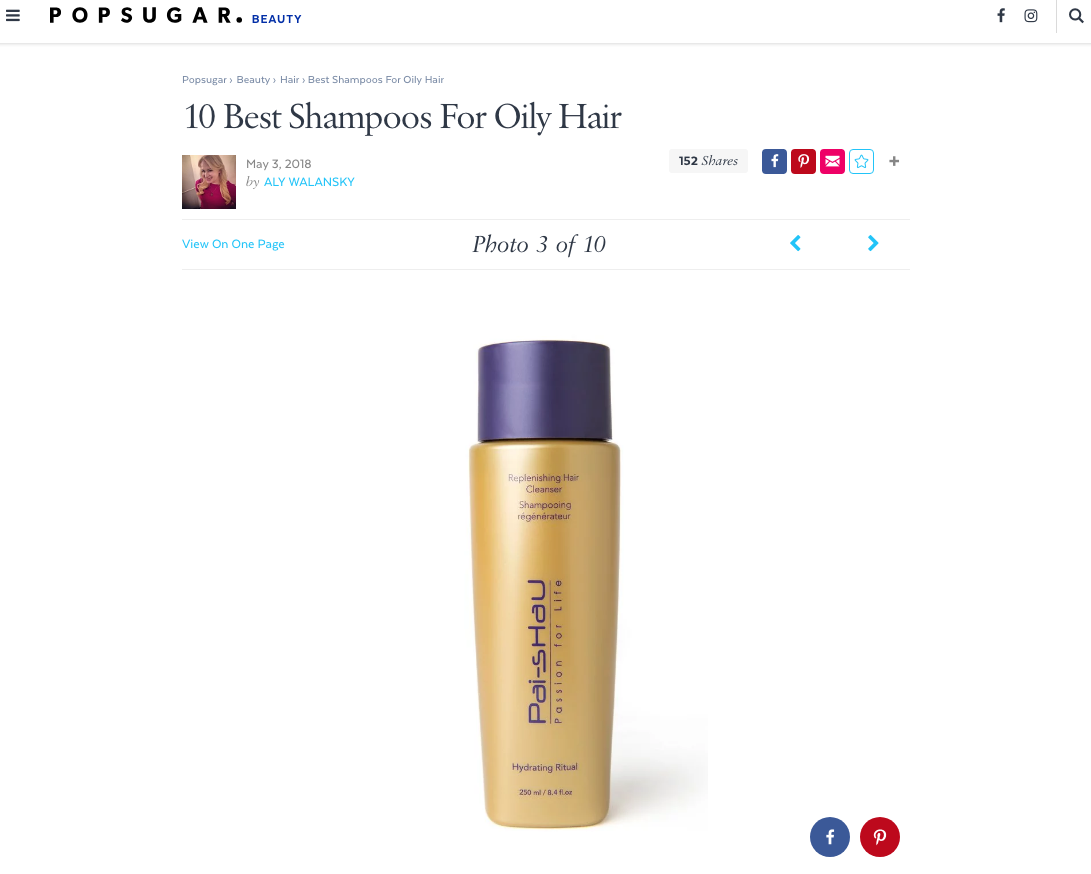 Pai-Shau Replenishing Cleanser in PopSugar
