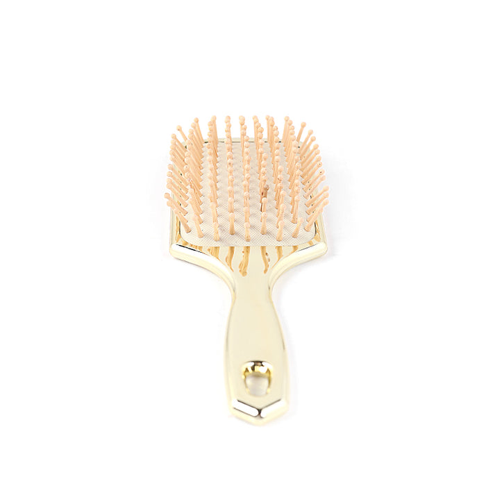 Soft Bristle Paddle Hair Brush (Gold)