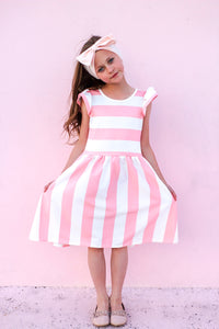 Pink Stripe Twirl Dress