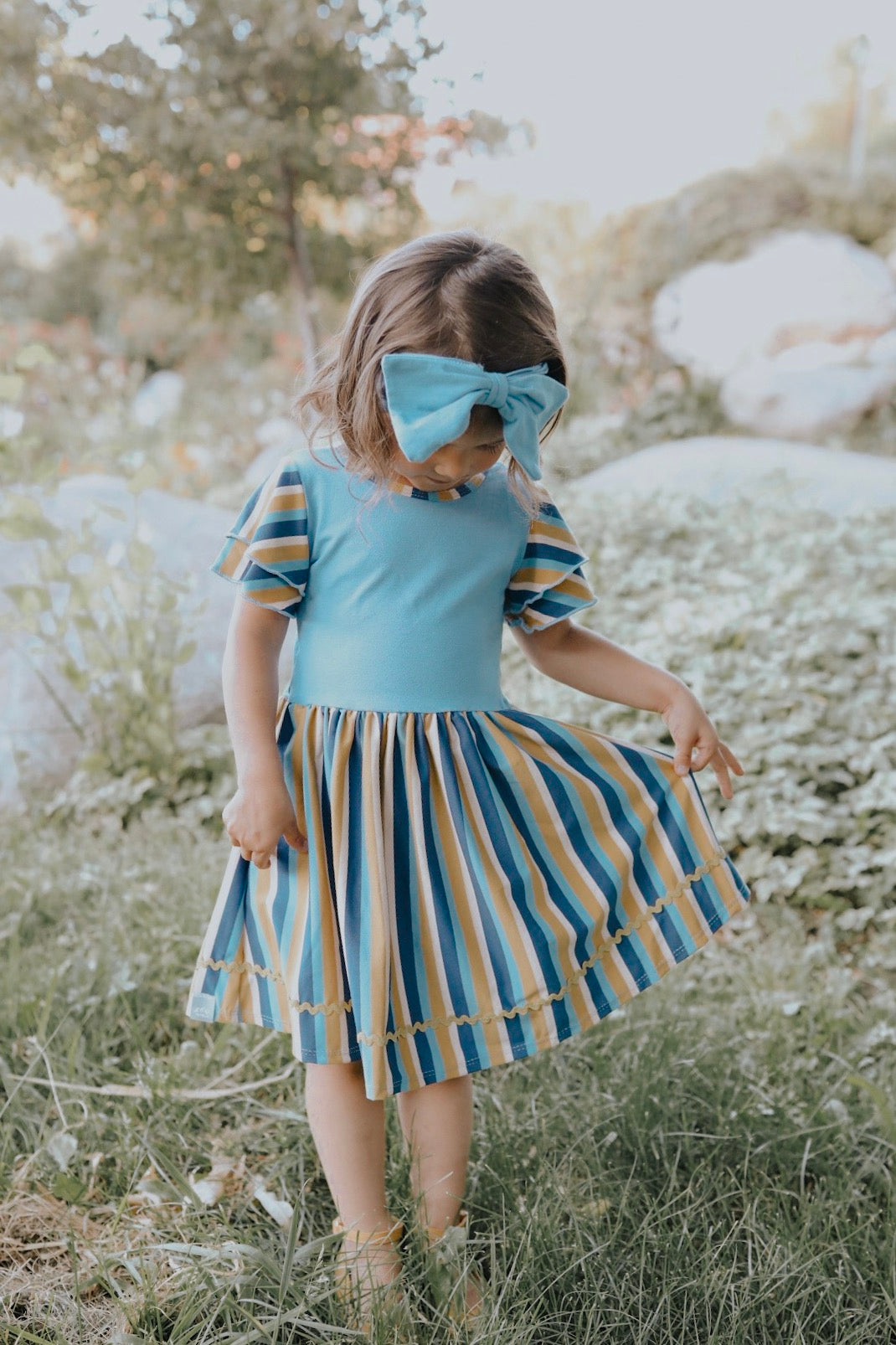 Fern Dress in Dusty Blue