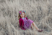 Load image into Gallery viewer, Magenta Stripe Jilly Jumper Dress