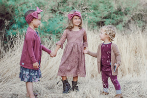 Mauve Jane Eyre Knee Length Dress