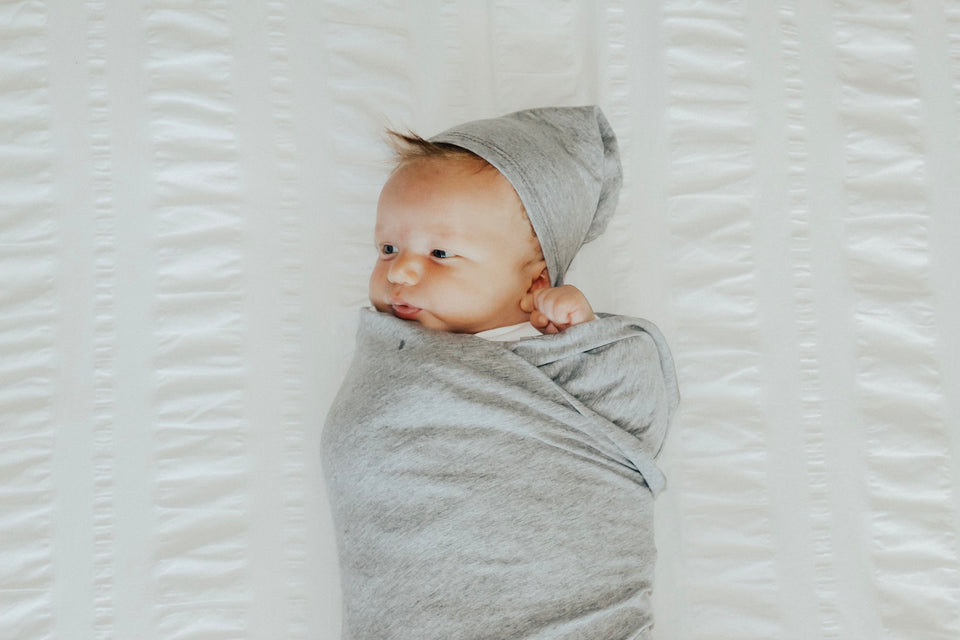 Light Grey Swaddle Blanket