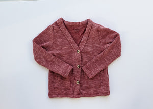 Cranberry Rib Knit Cardigan