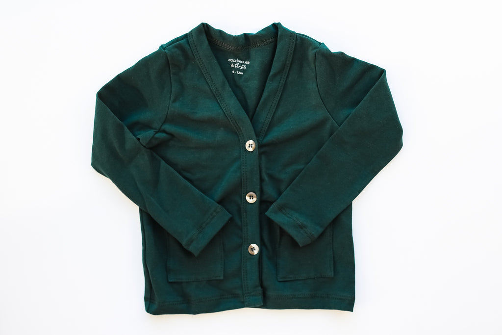 Hunter Green Cardigan