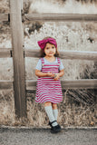 Magenta Stripe Jilly Jumper Dress