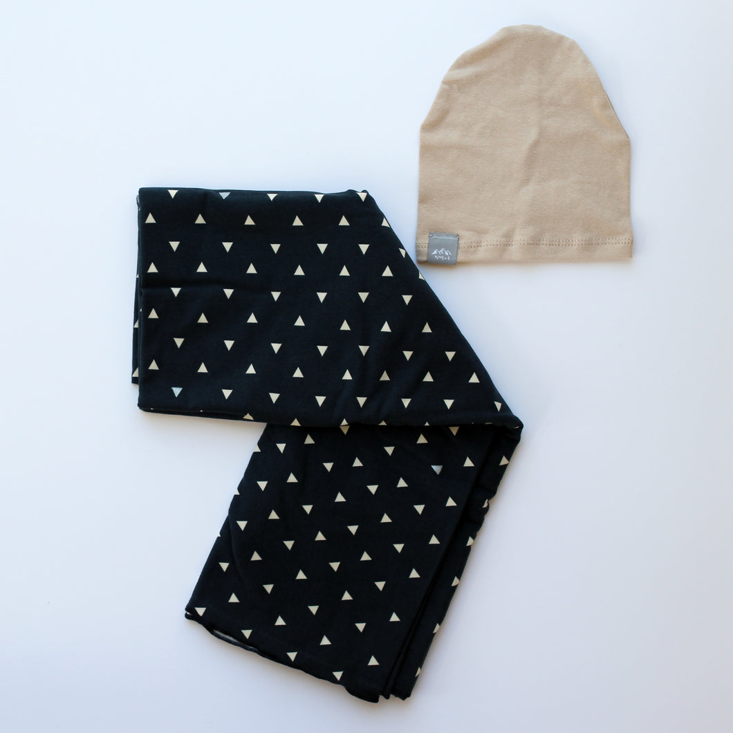 Navy Triangle Swaddle Blanket