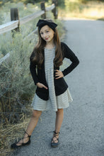 Striped Raven Dress