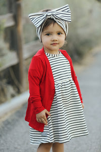 Stripe Raven Dress
