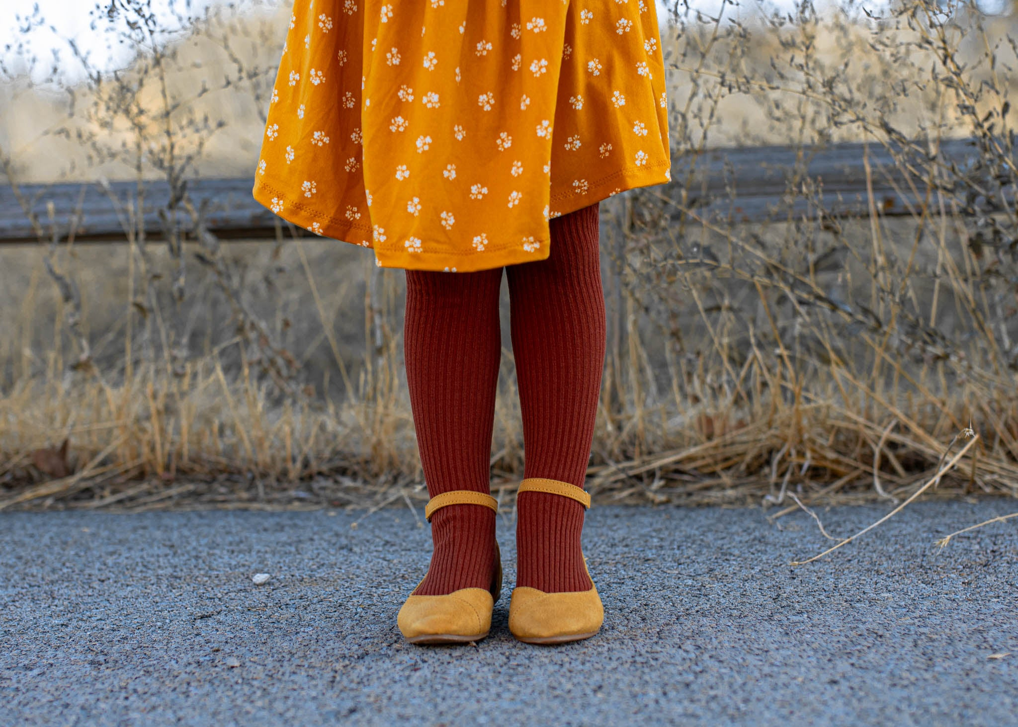 Line Knit Tights
