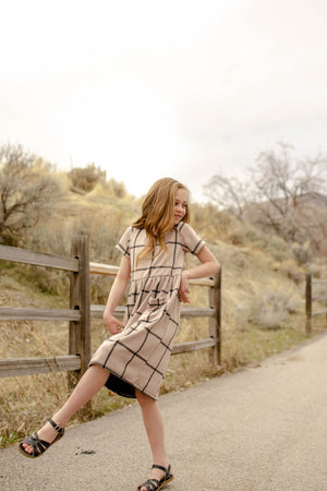 Scout Dusty Pink Grid Dress