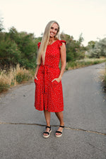 Caspian Red Women's Dress