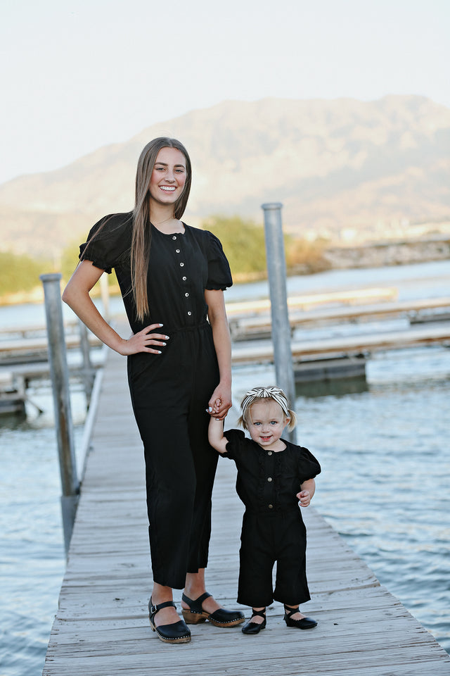 Pippa Black Women's Romper